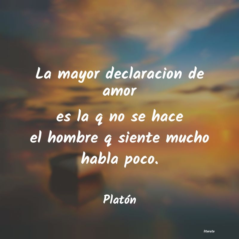 Platón La Mayor Declaracion De Amor E