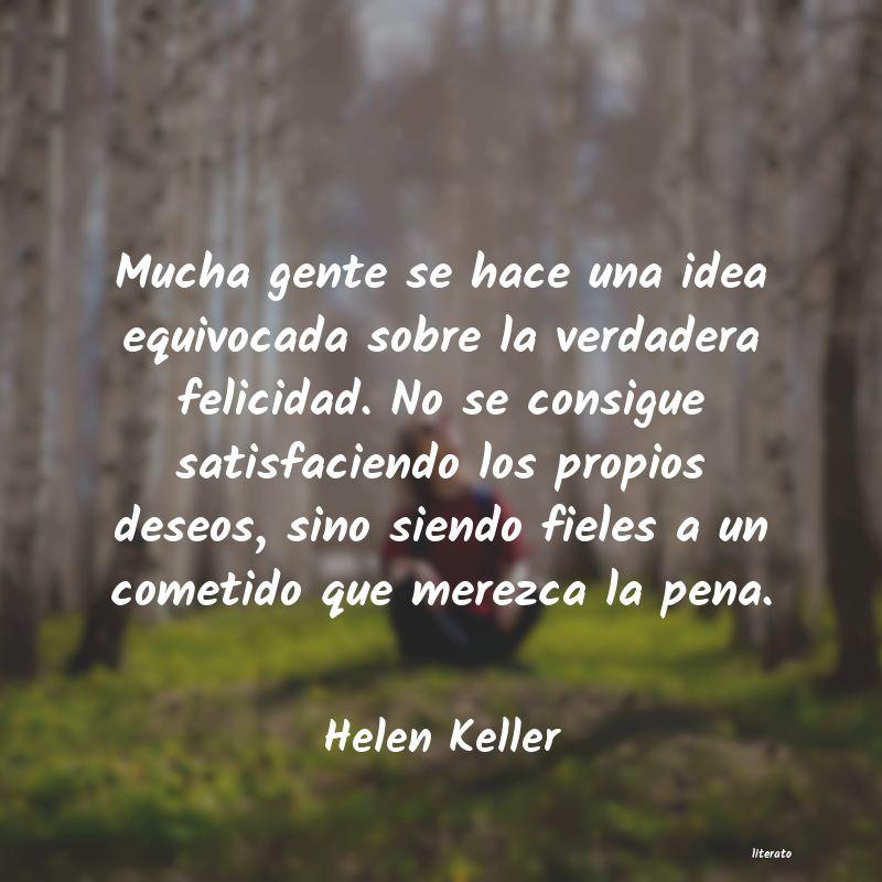 Helen Keller Mucha Gente Se Hace Una Idea E