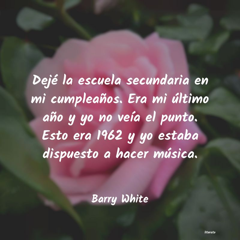 Frases de Barry White