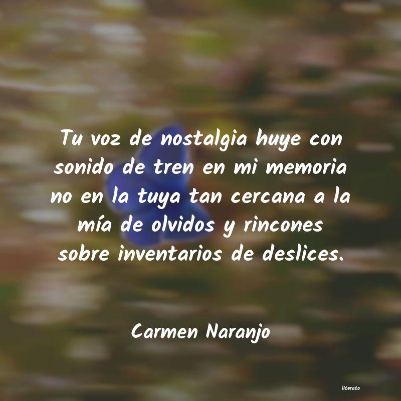 Carmen Naranjo Tu Voz De Nostalgia Huye Con S