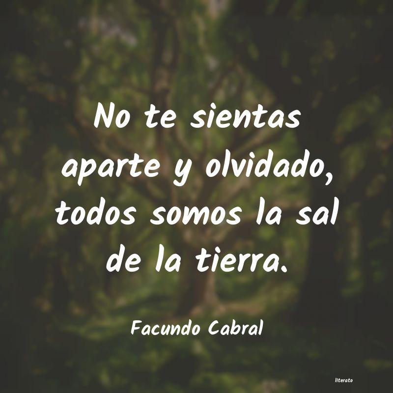 Facundo Cabral No Te Sientas Aparte Y Olvidad