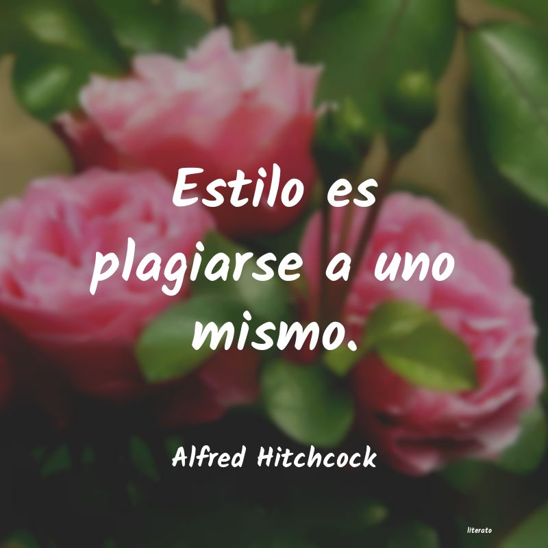 Frases de Alfred Hitchcock
