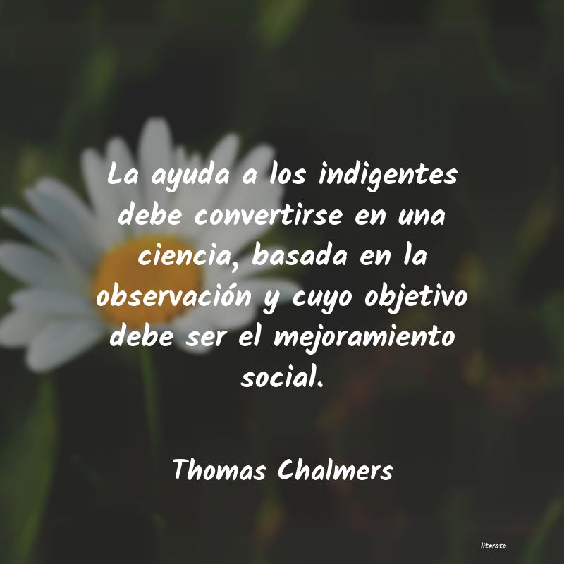 Frases de Thomas Chalmers