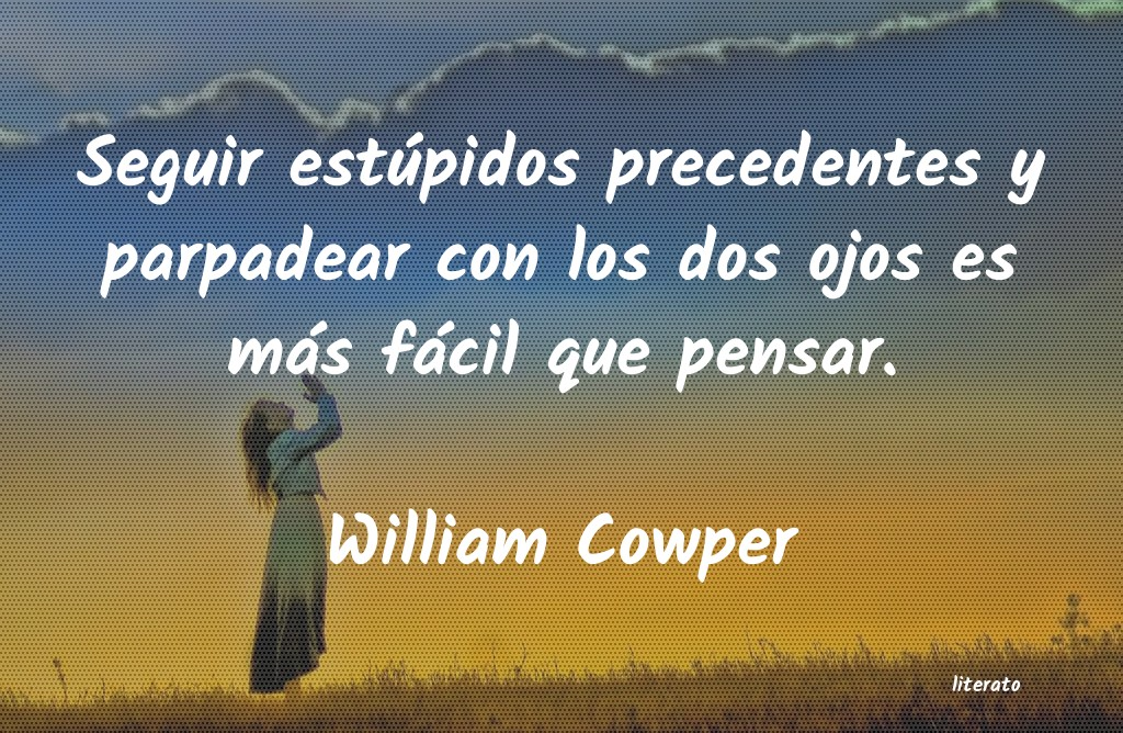 Frases de William Cowper