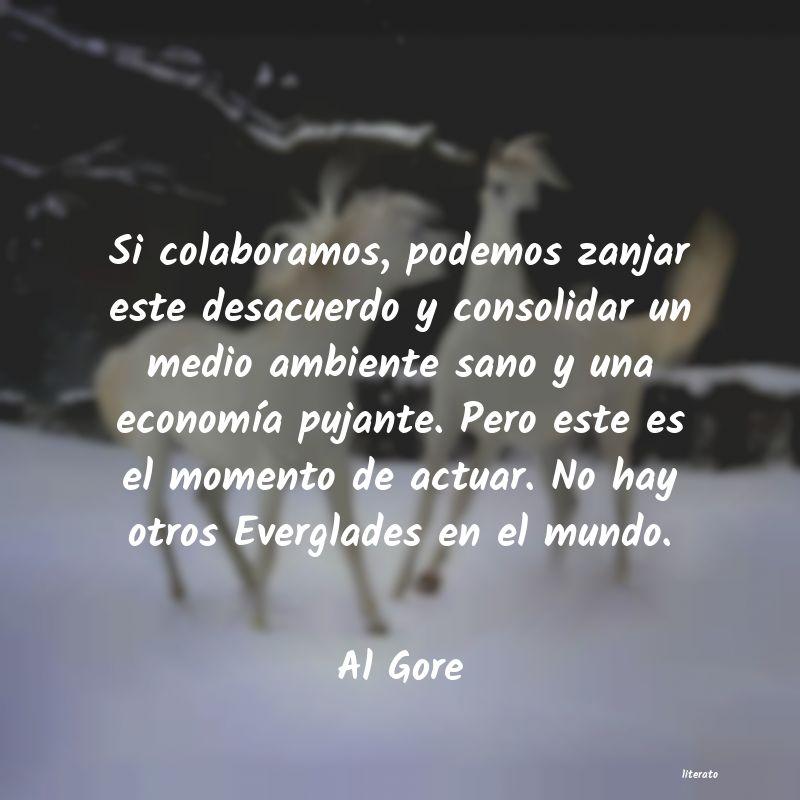 Al Gore Si Colaboramos Podemos Zanjar