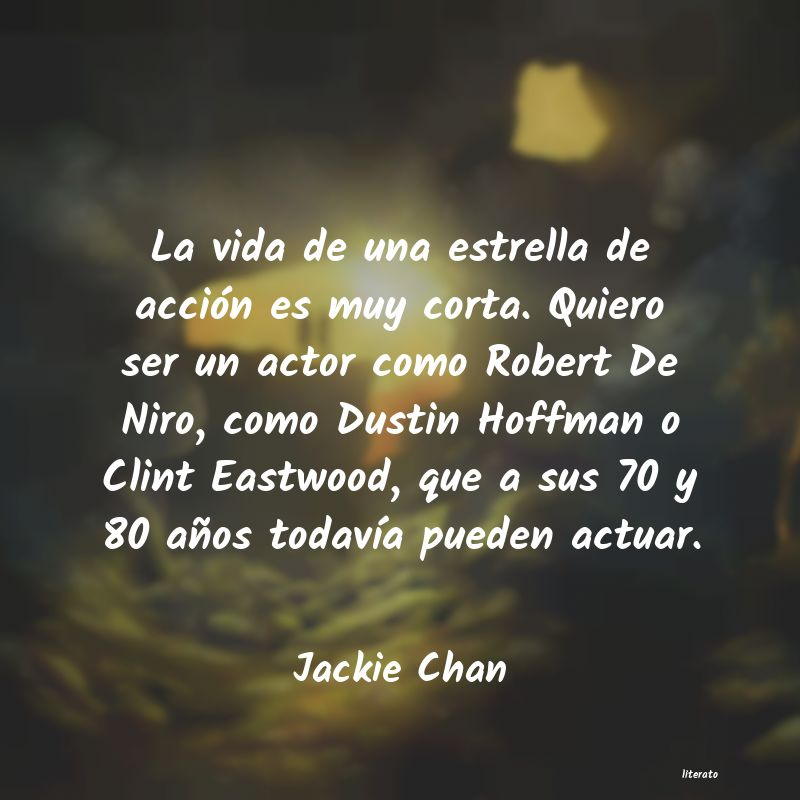 Frases de Jackie Chan