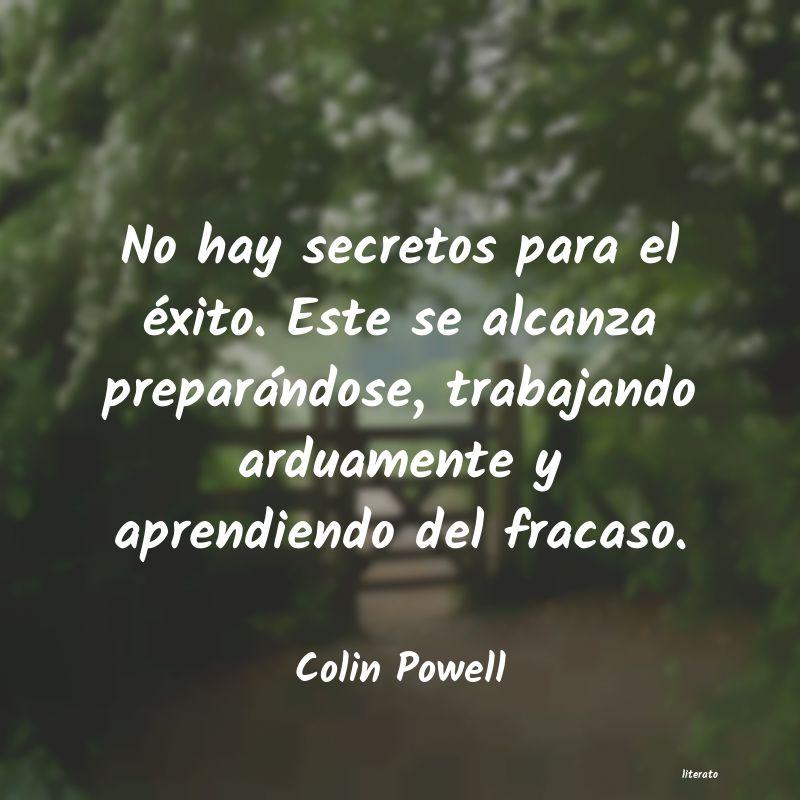 Colin Powell No Hay Secretos Para El éxito