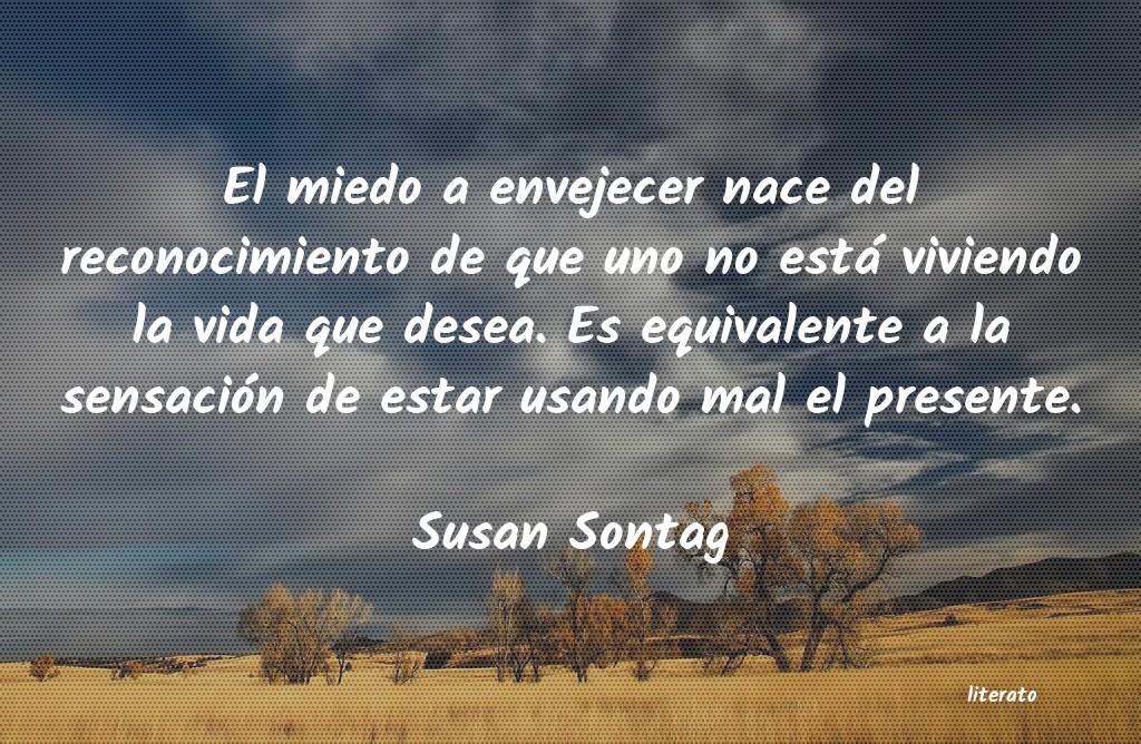 Susan Sontag El Miedo A Envejecer Nace Del