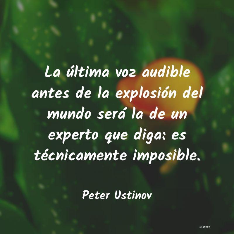 Peter Ustinov La última Voz Audible Antes D