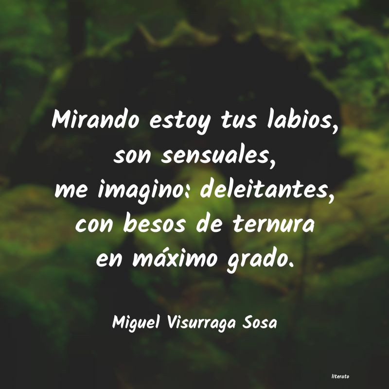 Miguel Visurraga Sosa Mirando Estoy Tus Labios Son