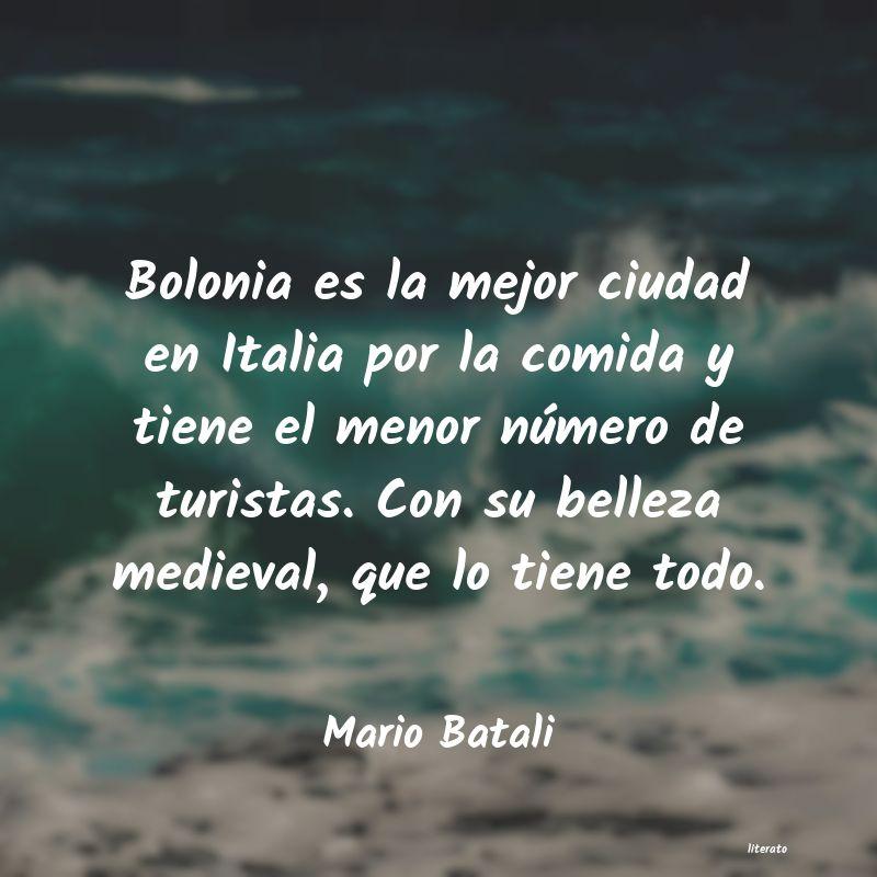 Mario Batali Bolonia Es La Mejor Ciudad En