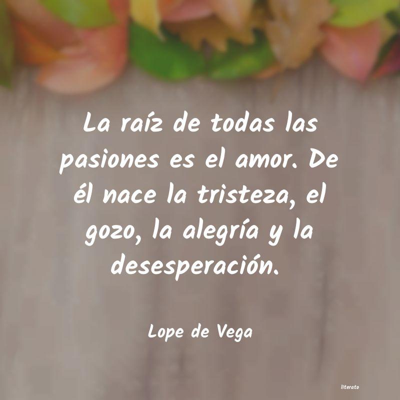 Lope De Vega La Raíz De Todas Las Pasiones