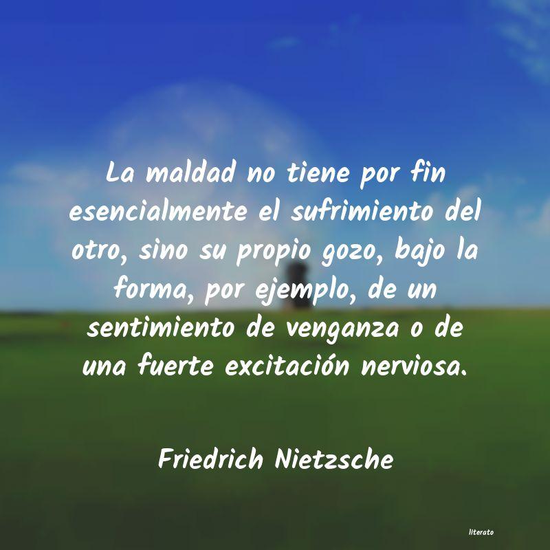 Nietzsche Frases Venganza Literato