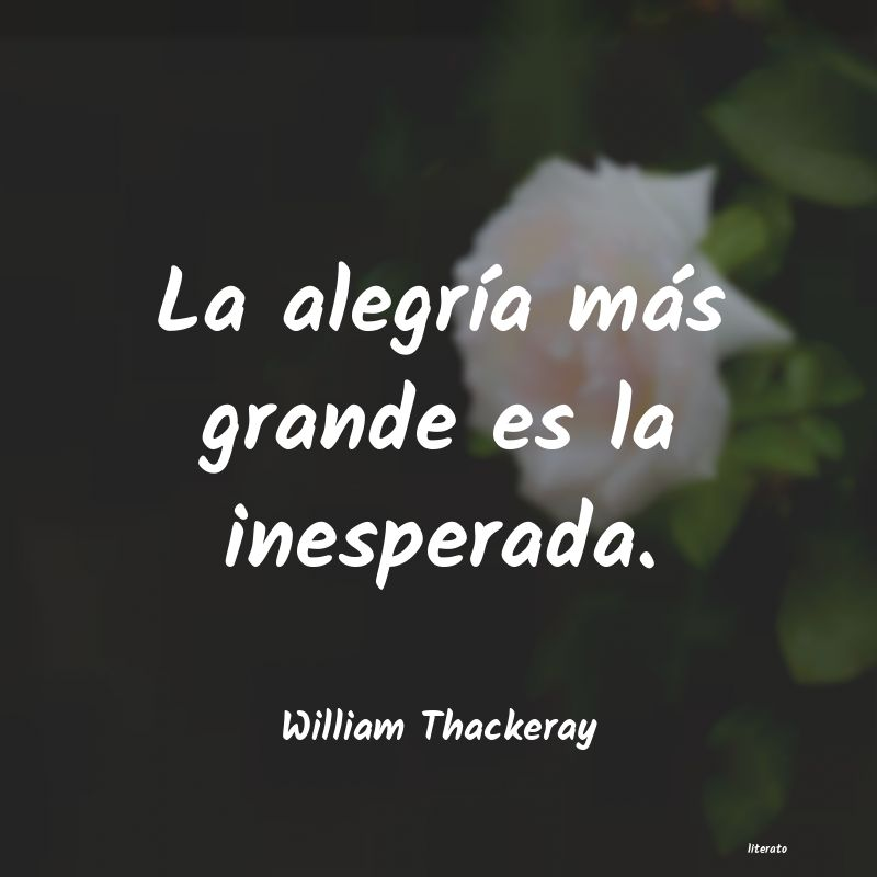 Frases de William Thackeray