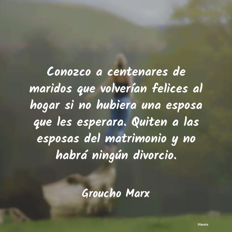 Groucho Marx Conozco A Centenares De Marido