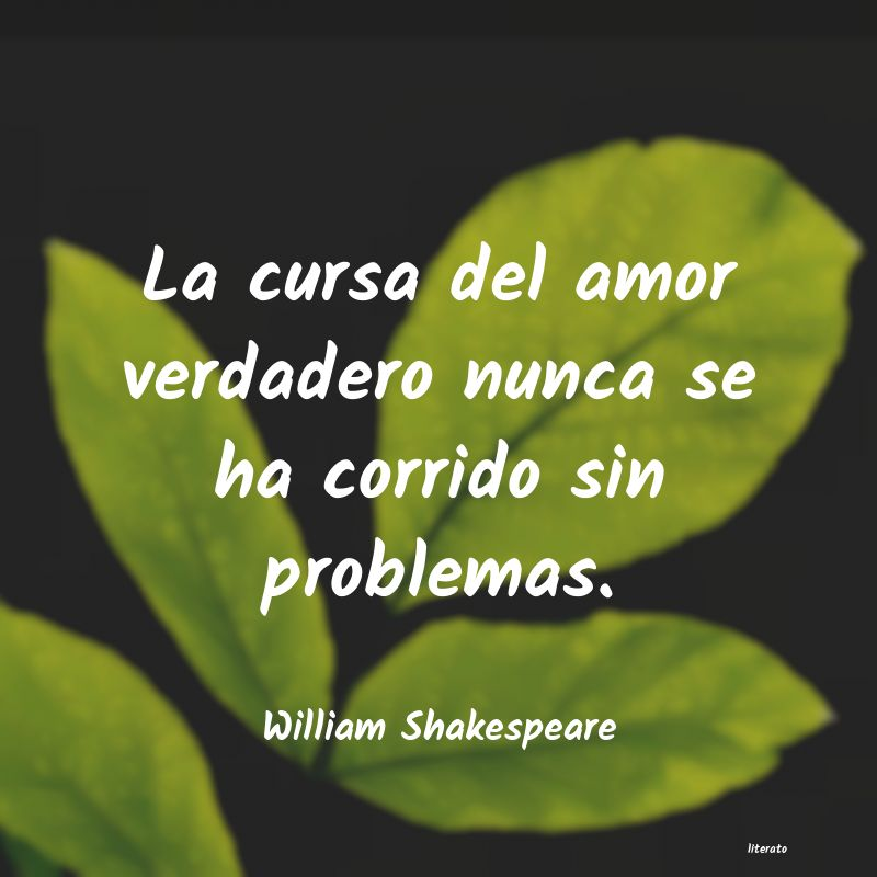 William Shakespeare La Cursa Del Amor Verdadero Nu