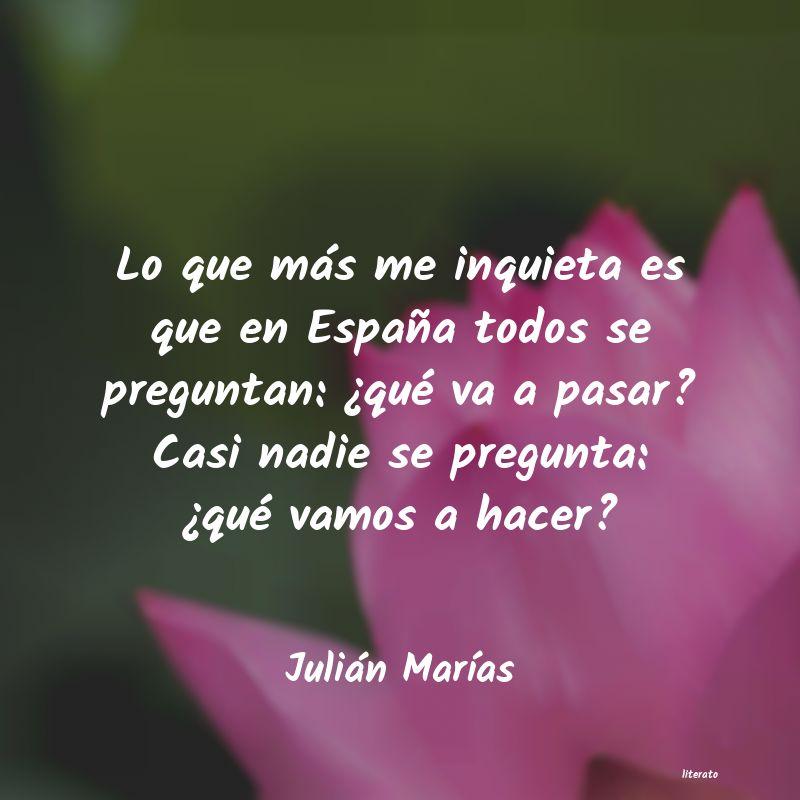 Frases De Julián Marías Literato