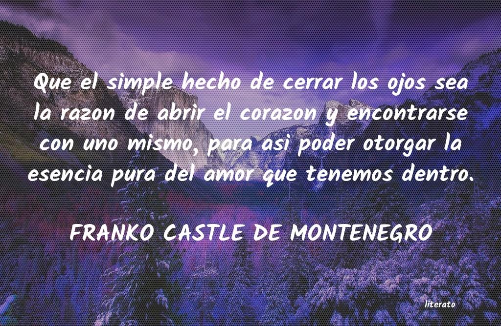 Franko Castle De Montenegro Que El Simple Hecho De Cerrar