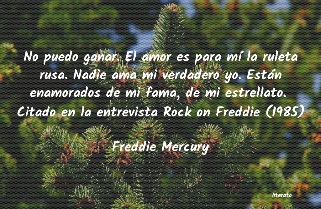 Freddie Mercury No Puedo Ganar El Amor Es Par