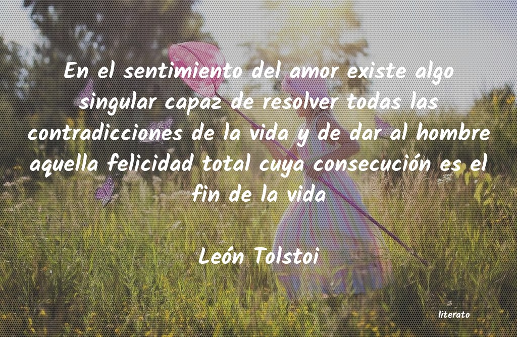 León Tolstoi En El Sentimiento Del Amor Exi