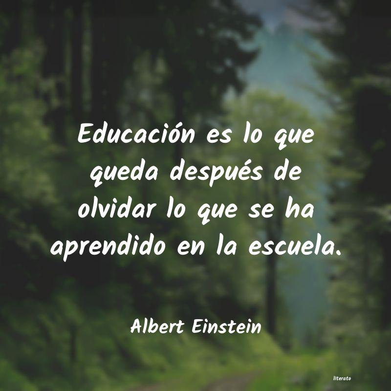 Albert Einstein Educación Es Lo Que Queda Des