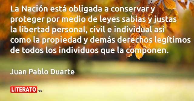 Frases de Juan Pablo Duarte