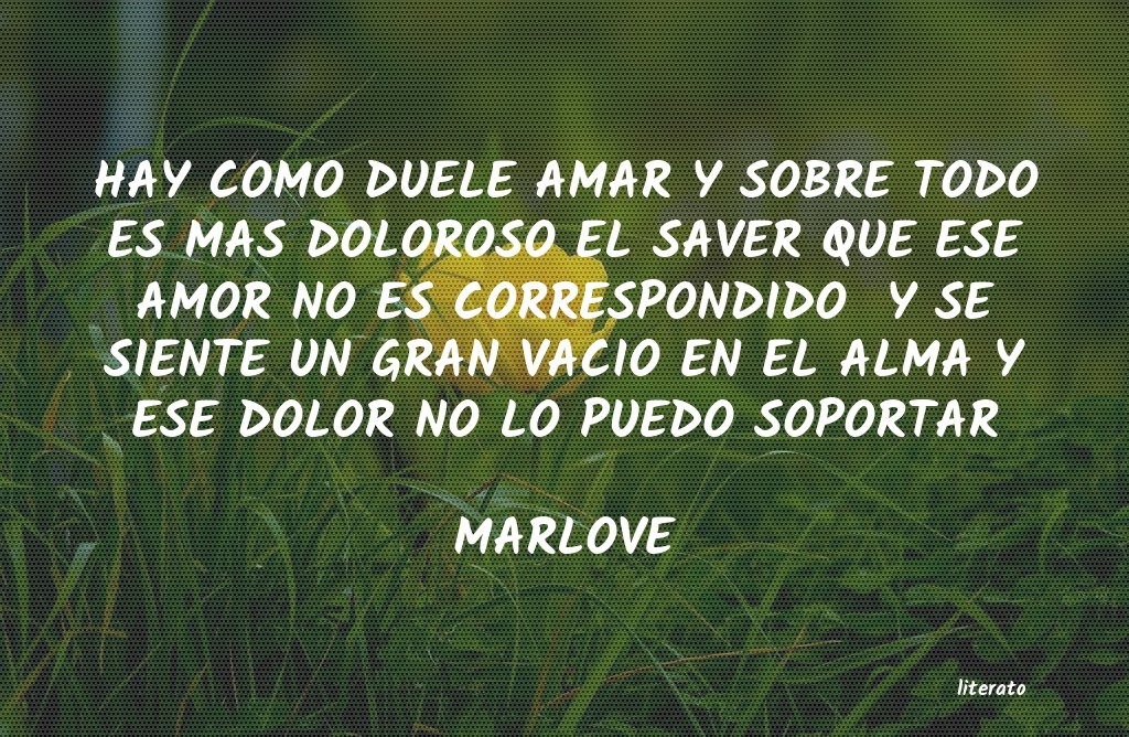 Marlove Hay Como Duele Amar Y Sobre To