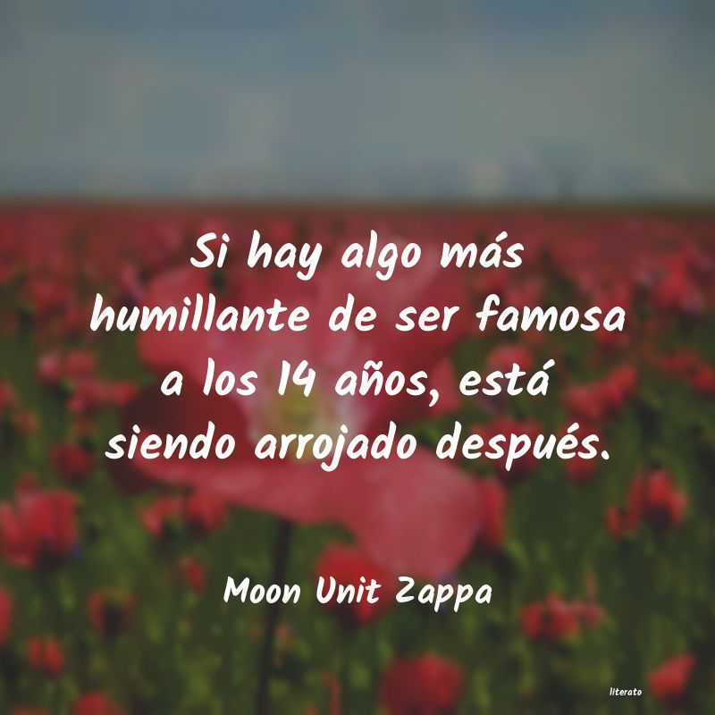 Frases de Moon Unit Zappa
