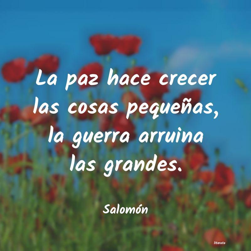 Salomón La Paz Hace Crecer Las Cosas P