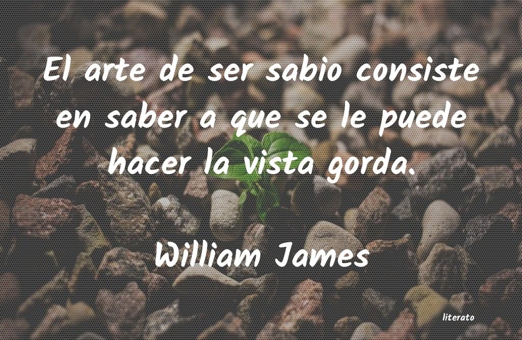 William James El Arte De Ser Sabio Consiste