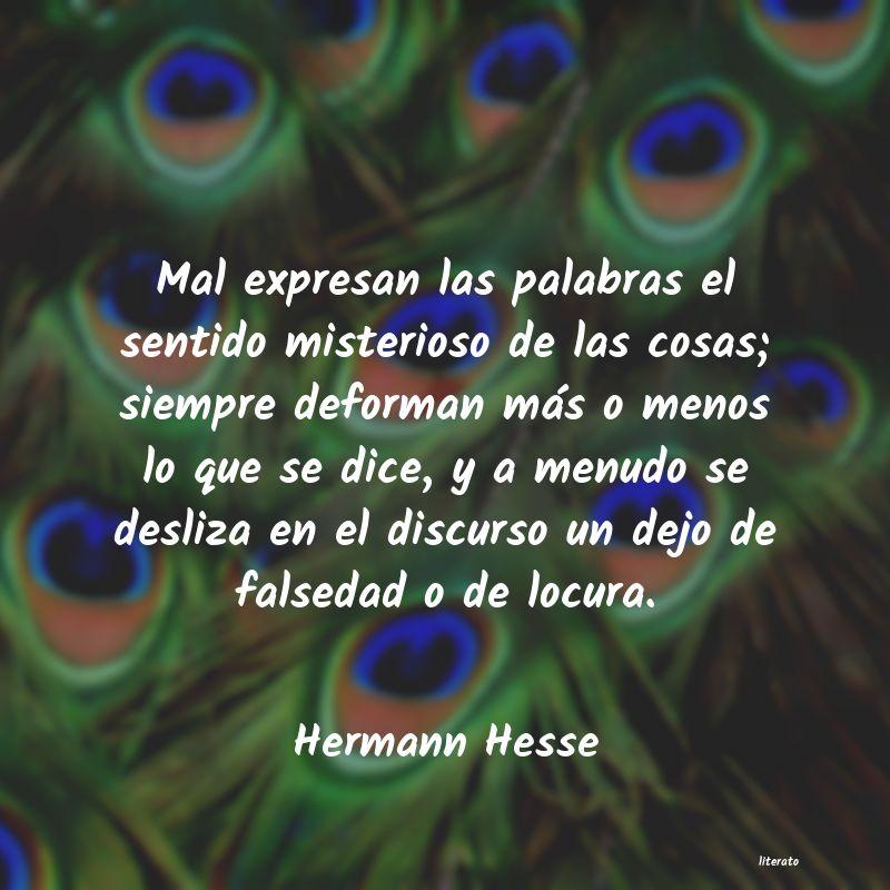 Hermann Hesse Mal Expresan Las Palabras El S