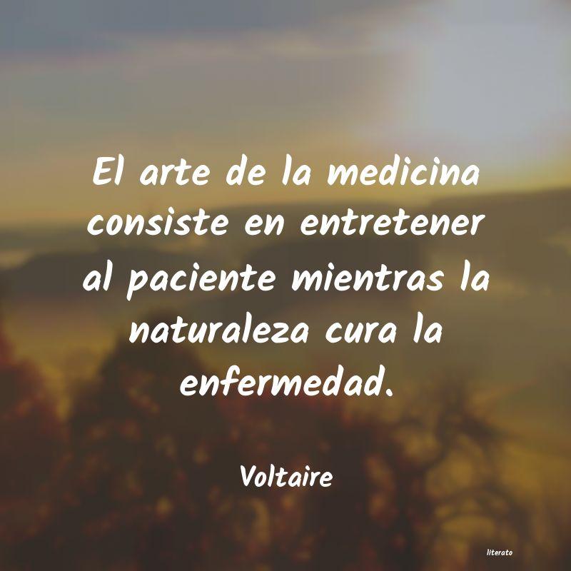 Voltaire El Arte De La Medicina Consist