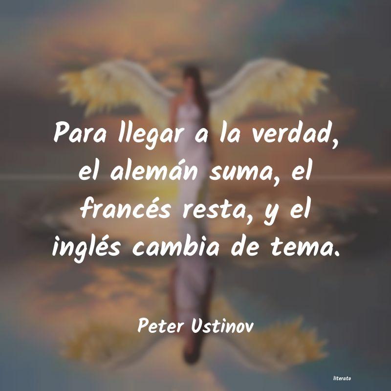 Peter Ustinov Para Llegar A La Verdad El Al