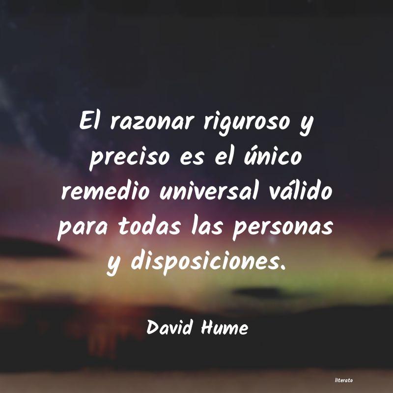 David Hume El Razonar Riguroso Y Preciso