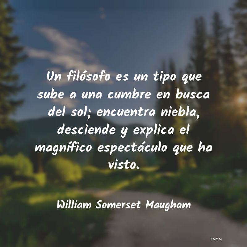 Frases de William Somerset Maugham