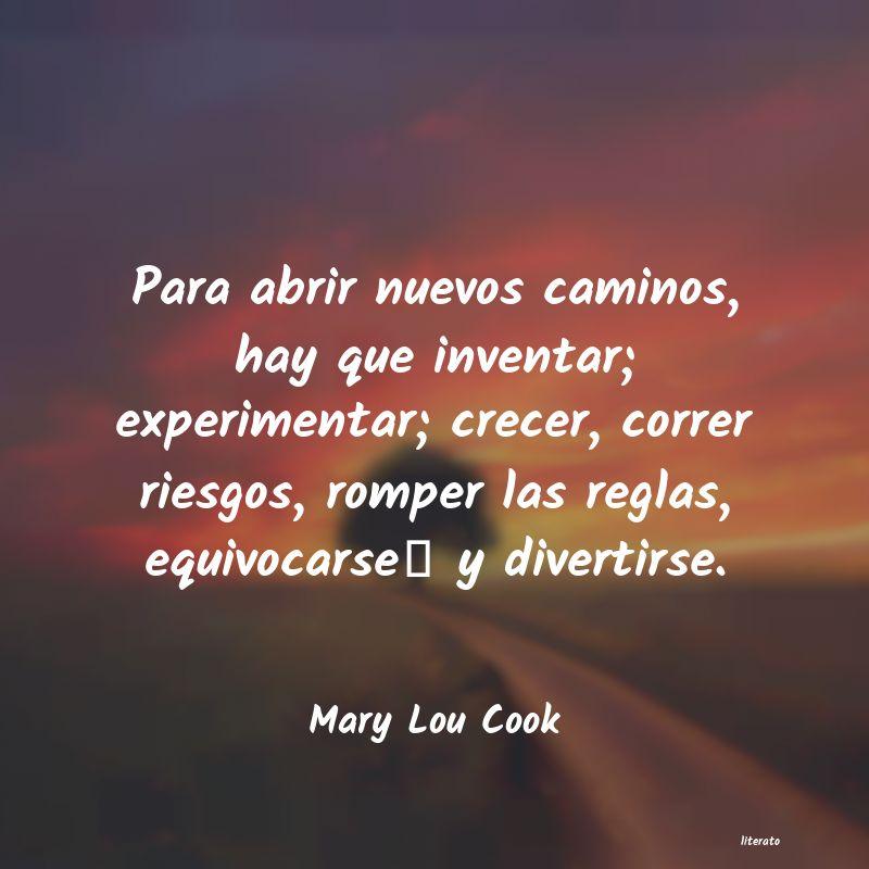 Mary Lou Cook Para Abrir Nuevos Caminos Hay