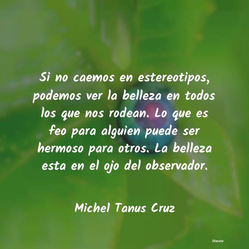 Michel Tanus Cruz Si No Caemos En Estereotipos