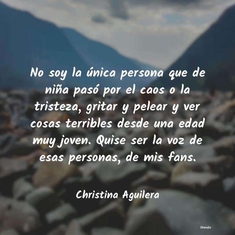 Christina Aguilera No Soy La única Persona Que D