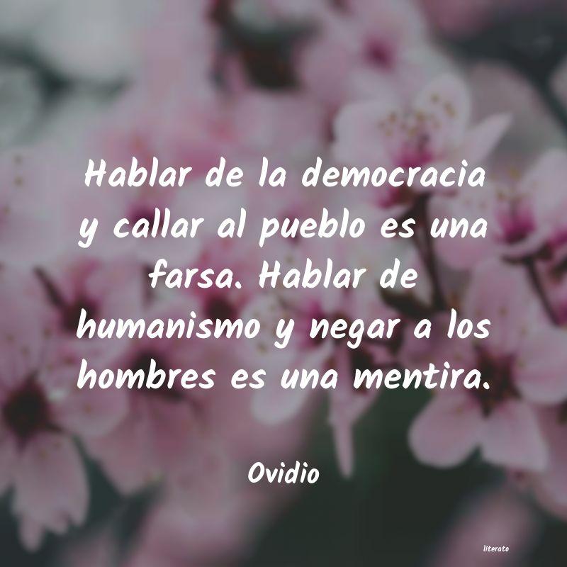 Ovidio Hablar De La Democracia Y Call