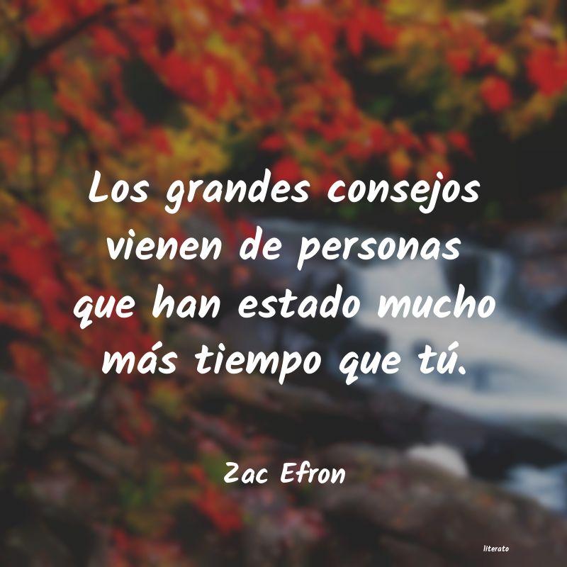 Zac Efron Los Grandes Consejos Vienen De