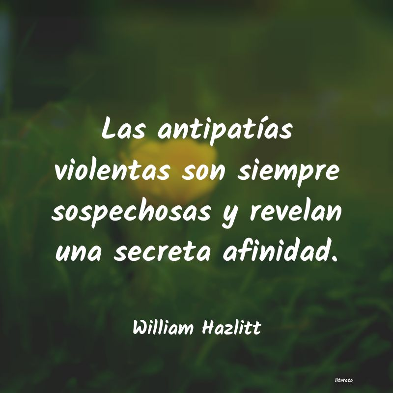 Frases de William Hazlitt