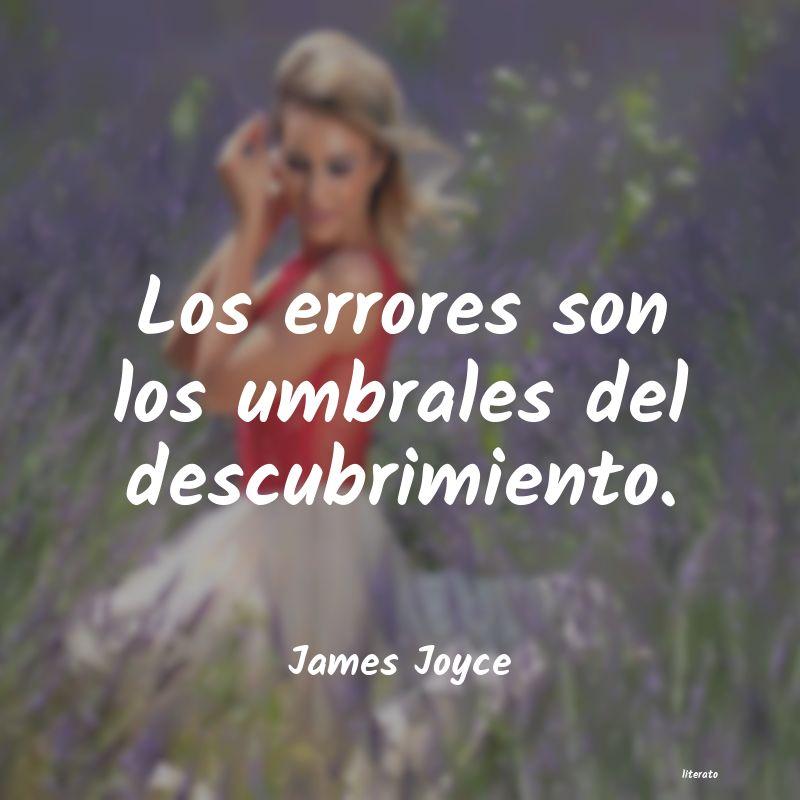 James Joyce Los Errores Son Los Umbrales D