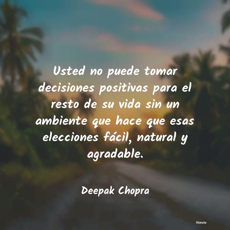 Deepak Chopra Usted No Puede Tomar Decisione