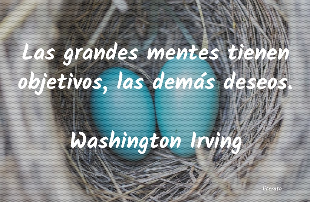 Washington Irving Las Grandes Mentes Tienen Obje