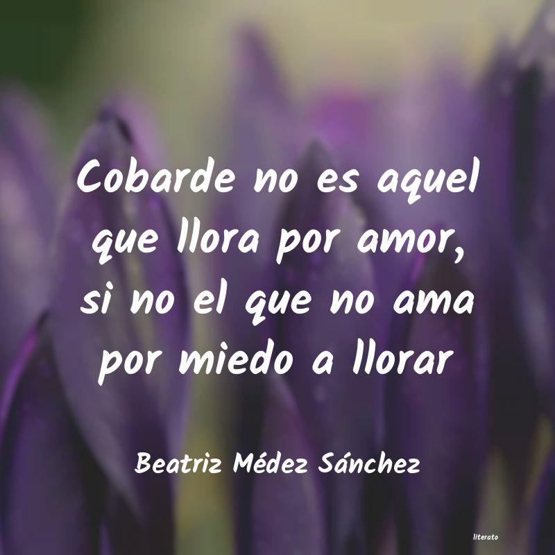 Beatriz Médez Sánchez Cobarde No Es Aquel Que Llora