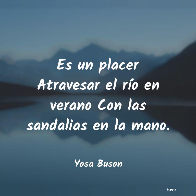 Yosa Buson Es Un Placer Atravesar El Río
