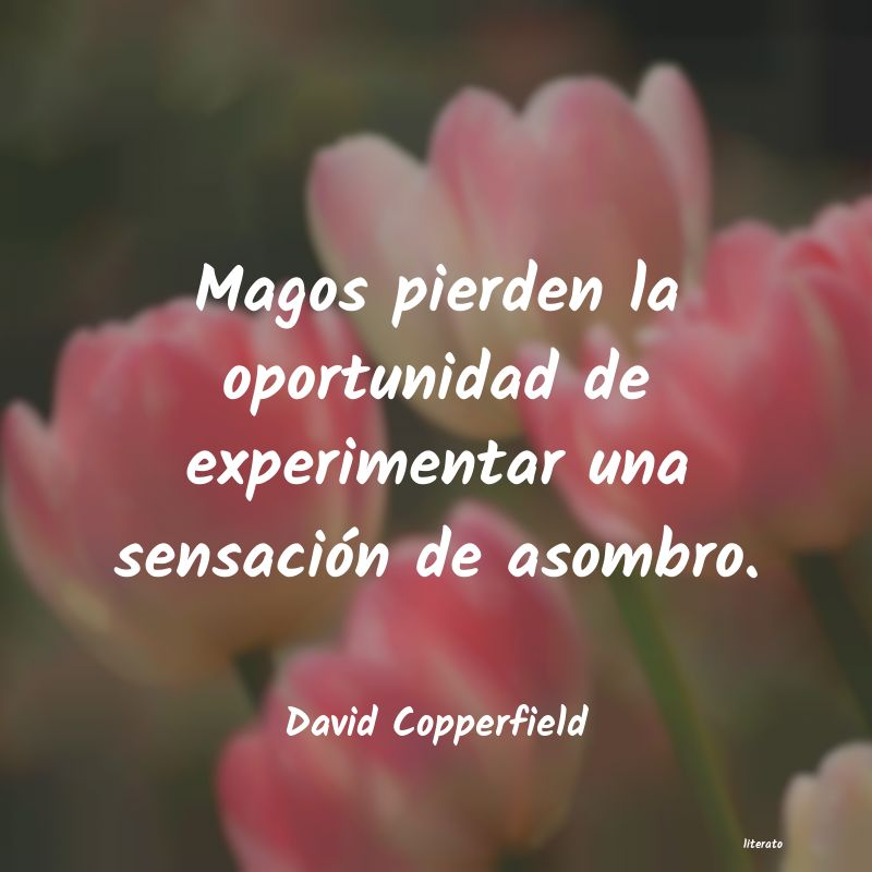 Frases de David Copperfield