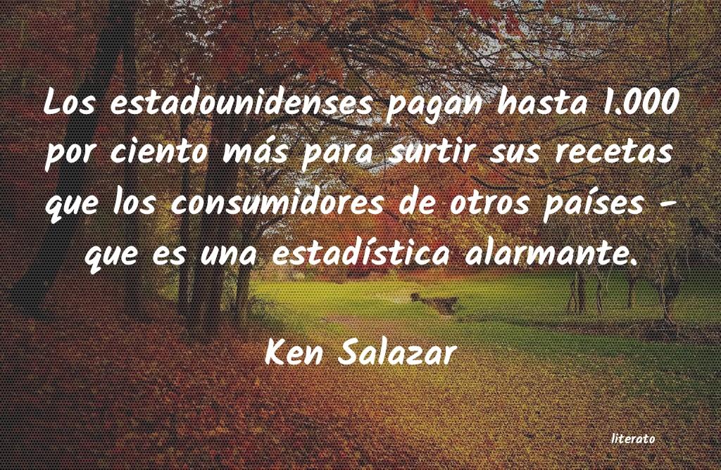 Ken Salazar Los Estadounidenses Pagan Hast