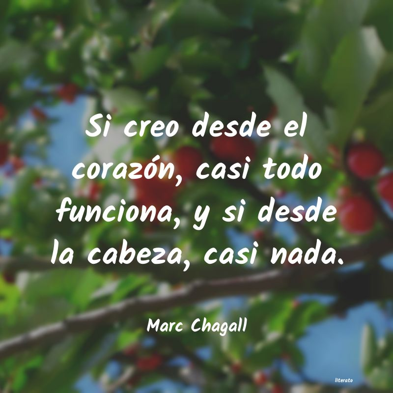 Frases de Marc Chagall