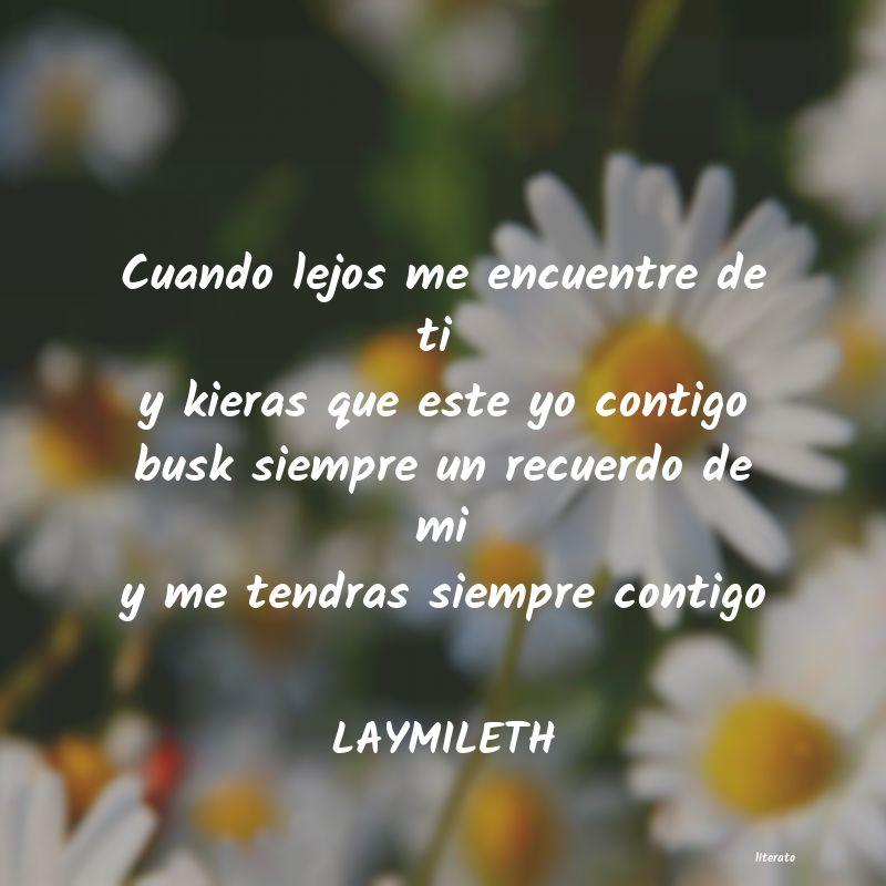 Laymileth Cuando Lejos Me Encuentre De T